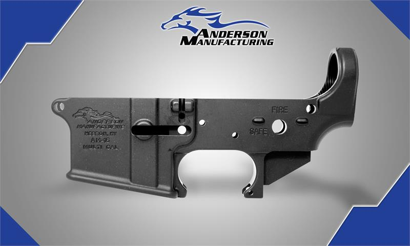 Anderson Mfg Stripped Lower Receiver – These Colors Never Run
