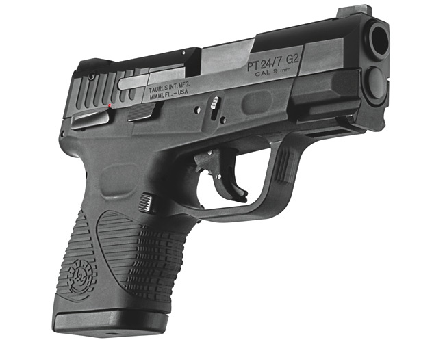 Taurus Pistol PT24/7 G2 9mm Compact DA/SA DS 3 5' 17 & 13+1