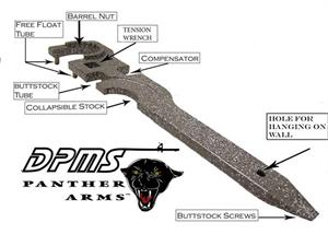DPMS Barrel Wrench / Multi Tool - Minor Surface Rust