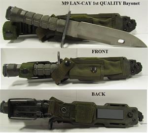 LAN-CAY M9 Tactical Knife & Scabbard USGI USA Made Military