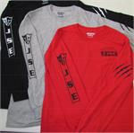 "JSE Clawed/JSE ""New"" Logo Long Sleeved T Shirts- 4 Sizes and 3 Color Choices"